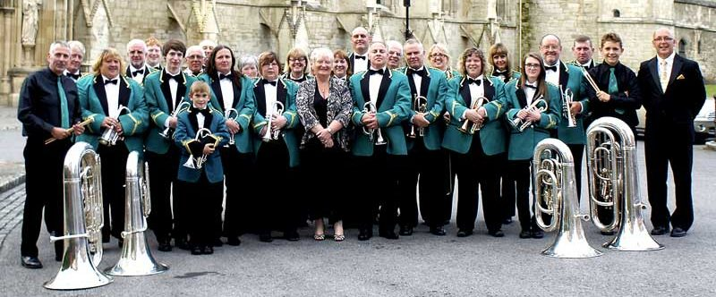 Forest Brass at Gloucester Cathedral in F W Harvey themed concert