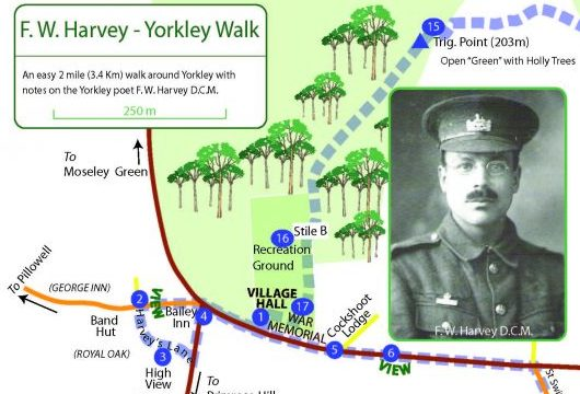 A leaflet of the The F W harvey Society Yorkley Walk