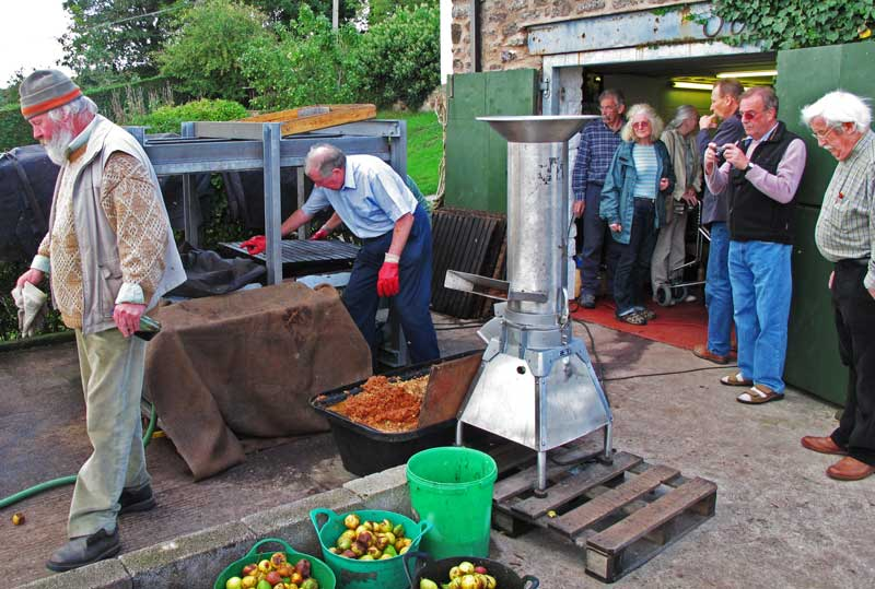 A photo taken on the Society visit Tosh's Tipple at Pleasant Stile