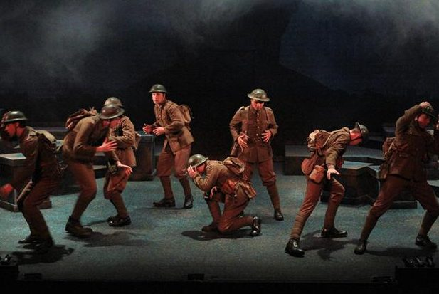 A photo of a scene in the play Will Harvey's War
