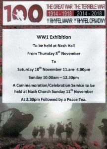 Nash Church WWI Exhibition