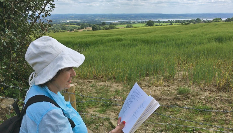 Marie reads His Own Dear Land