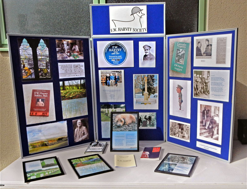 F W Harvey Stand at Yorkley Community Centre.